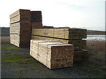 TA0623 : Packaged Timber Stack at Old Ferry Wharf by David Wright