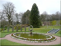 SS6140 : Pond in the walled garden, Arlington by Humphrey Bolton