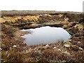 SE6097 : Moorland tarn near Stump Cross by Philip Barker