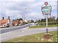 TM4460 : Aldringham Village Sign & B1122 Aldeburgh Road by Adrian Cable