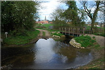 TF0117 : Ford and Footbridge at Little Bytham by John Walton