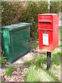 TM4460 : Water Control Box & Fitches Lane Postbox by Adrian Cable