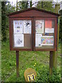 TM3068 : Badingham Village Notice Board by Adrian Cable
