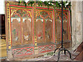 TF8915 : St Mary's church in Beeston - C15 screen (panels) by Evelyn Simak