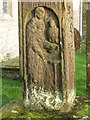 NY5674 : The 7th C Bewcastle Cross - St. John the Evangelist by Mike Quinn