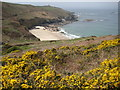 SW3935 : View to Portheras Cove by Philip Halling