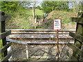 SU9790 : Jordans: Birchland Wood railway foot crossing (1) by Nigel Cox