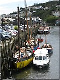 SX2553 : Boats at the quayside in Looe by Sarah Charlesworth