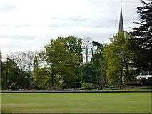 SX9164 : Upton Park Bowling Green by Tom Jolliffe