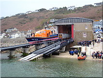 SW3526 : Preparing to launch the lifeboat by Rod Allday