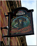 SJ8297 : Bricklayers Arms sign, 146 Ordsall Lane, Salford by P L Chadwick
