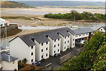 SH5638 : Flats by Porthmadog Harbour, Gwynedd by Peter Trimming
