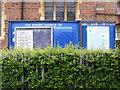 TQ4785 : St. Elisabeth's Church Notice Board, Becontree by Adrian Cable