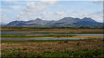 SH5738 : Mountain View From the Cob, Porthmadog, Gwynedd by Peter Trimming