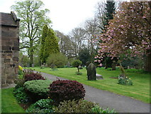 SK3739 : All Saints parish church, Breadsall - the churchyard by Ruth Sharville