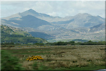 SH5838 : View to Snowdon across the Glaslyn Estuary by Mike Pennington
