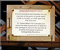 SD3128 : Danger Keep Out by Gerald England