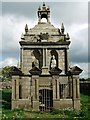 NZ0455 : Hopper Mausoleum, Greymare Hill by Andrew Curtis