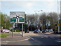 TR3044 : Approaching Whitfield Roundabout  by Oast House Archive