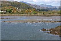 SH5738 : Afon Glaslyn at Porthmadog by Mike Pennington