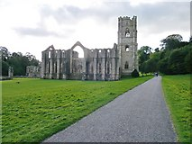 SE2768 : Fountains Abbey in late spring by roger nightingale