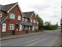 SO3951 : Modern housing, Weobley by Peter Whatley
