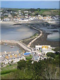 SW5130 : St Michael's Mount harbour and causeway by Rod Allday