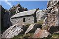 SR9692 : St Govan's Chapel, from below by Bob Jones