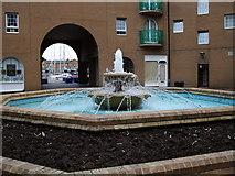 TQ3303 : Fountain in Brighton Marina Square by Paul Gillett