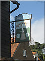 TQ6950 : Yalding Village Sign by Oast House Archive