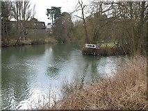 ST6668 : River Avon above Keynsham Weir by Derek Harper