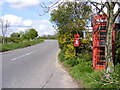 TM2869 : B1116 Laxfield Road & Bell Corner Postbox by Adrian Cable