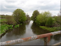 SS6613 : The view downstream from Kersham Bridge on the river Taw by Roger A Smith
