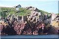 SM7405 : Old gantry for Skokholm lighthouse supplies by Bob Jones
