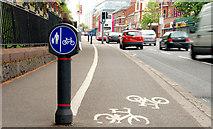 J3472 : Cycle lane, Belfast (1) by Albert Bridge