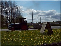 SK1576 : Passing Tractor, Tideswell Lane Head by Jonathan Clitheroe