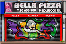 J3674 : Decorated shutter door, Belfast by Albert Bridge