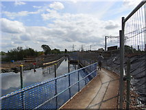 SP0483 : Temporary canal diversion. by Chris Allen