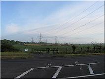 SU3613 : Power lines near Totton by Alex McGregor