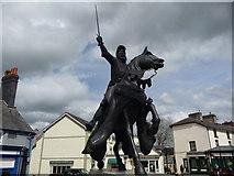 SJ0743 : Owain Glyndwr statue, Corwen by Jeremy Bolwell