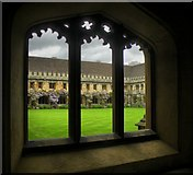 SP5206 : View from Magdalen College Cloisters by Terry Bean