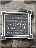 NT2674 : James Craig Plaque, Calton Hill, Edinburgh by Becky Williamson