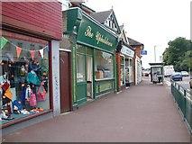 SZ0894 : Wimborne Road shops near junction with Moorfield Grove by David Gearing