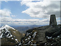 NN4324 : The Ben More trig point by Stephen Sweeney