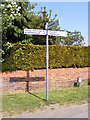 TG1606 : Roadsign on School Lane by Adrian Cable