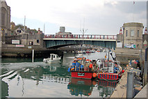 SY6778 : Weymouth Quayside by Town Bridge by John Firth