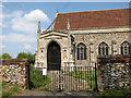 TF8521 : All Saints' church in Weasenham - entrance by Evelyn Simak