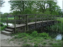 SU4828 : Footbridge to Winchester College Playing Fields by Chris Heaton