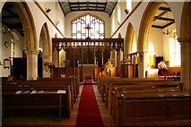 TG0934 : Aisle, St Peter and St Paul Church, Edgefield, Norfolk by Christine Matthews