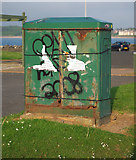 J5182 : Electricity box, Bangor by Rossographer